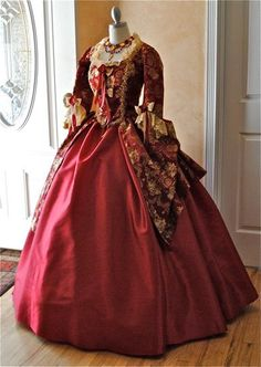 New Style Marie Antoinette Gown Shorter Sleeves by RomanticThreads