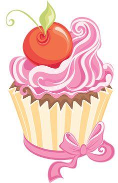 Cupcake Pictures, Cupcake Images, Cupcake Drawing, Cupcake Art, Happy Birthday Font, Baking Logo Design, Cupcake Clipart, Drawing Frames, Decoupage Art