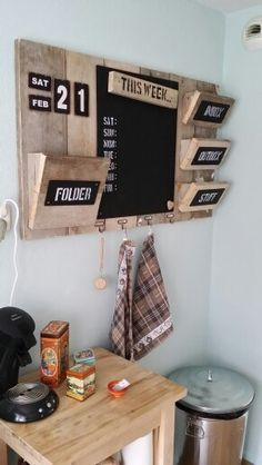 Awesome idea! #command center #kitchen #organization