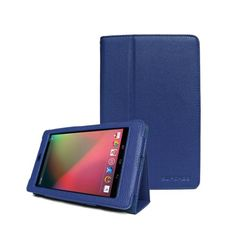 $9.99 Google Nexus 7 Tablet Slim Fit Leather Case (Sapphire Blue) with Stand by Supcase (TM) - Color Options: Black, Sapphire Blue, Green, Purple, Light Blue, Deep Pink, Deep Blue, Red, Pink, Yellow, White
