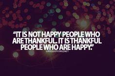 Happy & thankful :)