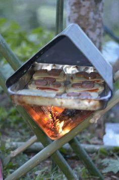 Box oven met zo'n oud olijfolie blik van die chineze restaurants?