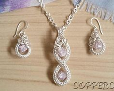 Silver Woven Wire Jewelry Set