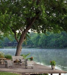 This is so lovely. What a nice place to relax and enjoy the view.