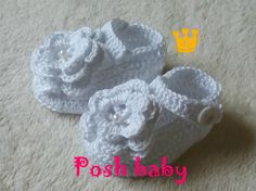 Crocheted cotton shoes