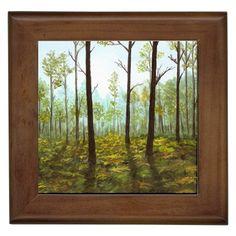 Framed Tile Ceramic Tile Coaster or Rubber Coasters Landscape 145 by artbyLucie
