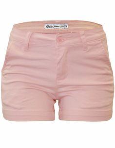 Cielo Cotton Color Shorts Twill Welt-pocket Peach 030-2