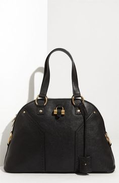 Yves Saint Laurent 'Muse - Large' Leather Dome Satchel available at Nordstrom Saint Laurent Tote, Yves Saint Laurent Paris, Ysl, Style Wish, My Style, Chloe, New Bag, Cute Bags, Timeless Classic