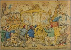 To pay for the war Pitt was forced to increase taxation and had to raise a loan of18 million pounds. This problem was made worse by a series of bad harvests. When going to open parliament in October 1795, George III was greeted with cries of 'Bread', 'Peace' and 'no Pitt'. 1795, James Gillray