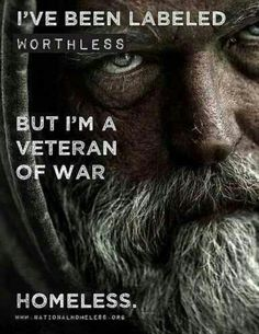 We lose a powerful source Homeless Man, Helping The Homeless, Homeless Veterans, Homeless People, Tatoo, Us Military, Military Veterans, Military Families, Military Humor