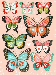 Pink Butterflies - Girly Wall Art Decor by Katie Daisy, 18x24 $119 and 24x30 $159