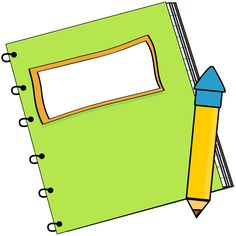 Green Notebook with a Pencil Clip Art - Green Notebook with a Pencil Vector Image Teacher Supplies, Teacher Hacks, School Supplies, Free Doodles, Preschool Music, School Clipart, Teaching Language Arts, School Worksheets, Elementary Music