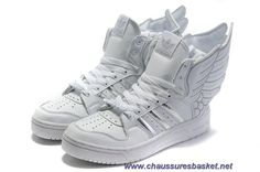 4520503cac7bf Chaud Adidas X Jeremy Scott Wings 2.0 Chaussures Blanc Argent Silver Shoes