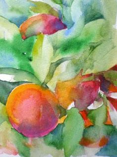 laura's watercolors: peaches