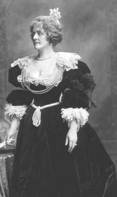 Lady Beatrice, Countess Cadogan, nee Craven, first wife of George, 5th Earl of Cadogan, wearing a head jewel at the Devonshire House Ball 1897