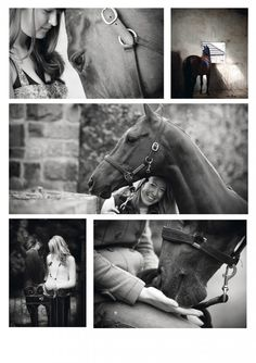 horses-7-jpg Horse Photography love how they left one pic in color in this collage