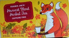 Trader Joe's Harvest Blend Herbal Tea 20 Bags Caffeine Free Fox on the Box Trader Joe's, Best Herbal Tea, Herbal Teas, Caffeine Free Tea, Fall Drinks, Types Of Tea, Tea Box, Tea Infuser, Fall Harvest