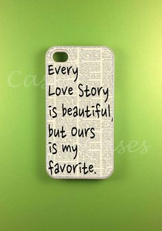 Cut out a piece of newspaper or a page from a book, write on it, and put it at the back of a clear case. Voila! (The link is for an etsy-page)