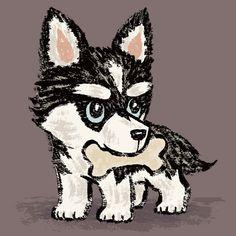 Siberian-Husky on Behance Cute Dog Photos, Funny Dog Pictures, Husky Drawing, Husky Breeds, Dog Breeds, Wolf Husky, Dog Crafts, Husky Puppy, Dog Art