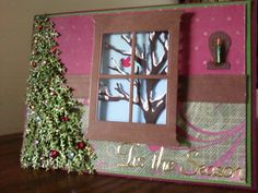 My Newest Christmas greeting. I love the little candle sconce I made with a toothpick!!!!  SueBee Cards, Susan Bagley