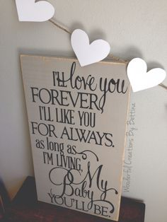 Rustic shabby chic wooden sign for neutral nursery wall