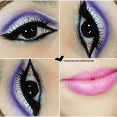 Add some purple in your eyes to add color to your day! Follow these simple steps on Bia A's Tutorial.