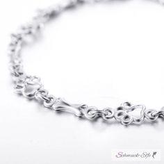 Armband Pfote & Knochen aus 925 Silber im Etui, 99,99 €