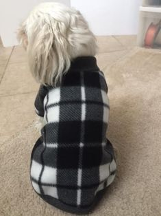 Black and White Plaid Fleece Hooded Sweater. Black and White Plaid Fleece dog sweater.(Pls Double Check the Size) Small Dog Breeds, Small Breed, Dog Sweaters, Black Sweaters, Hooded Sweater, Fleece Hoodie, Chihuahua, Yorkie Poodle, White Plaid