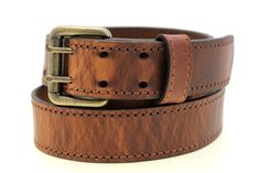 Hand Tooled Leather Belt Faux-Stitching