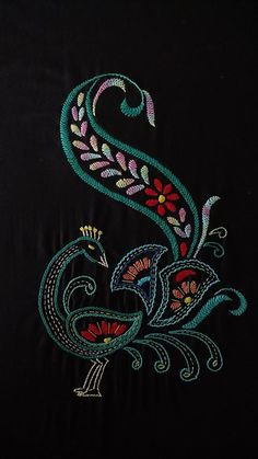 Avon Creative Needlecraft First Prize at the County Fair Crewel Embroidery Pictures Kit - Embroidery Design Guide Hand Embroidery Videos, Embroidery Flowers Pattern, Embroidery Works, Embroidery On Kurtis, Hand Embroidery Stitches, Crewel Embroidery, Peacock Embroidery Designs, Kutch Work Designs, Bordado Floral