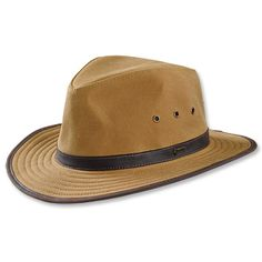 Oilcloth Outback Hat Sport a bold look in our men's handsome outback hat. orvis.co.uk