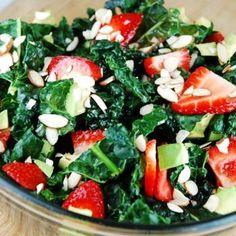 Kale, Strawberry and Avocado Salad