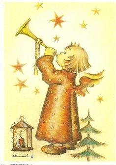 a postcard from Nederland (2013). Little Gabriel, Original no 14125. (c) Verlag Ars sacra Josef Muller, Munchen