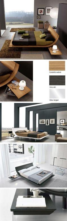 beds modern sleek platform beds