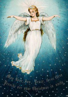 free angel postcard image angel angels vintage xmas rh pinterest com free angel wings clipart free clipart of angels