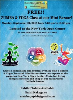 Free Monday night Zumba, Yoga and Belly Dance class. Register for free now ! Facebook Registration http://on.fb.me/1ioANMZ Email Registration http://conta.cc/1J3NhPI