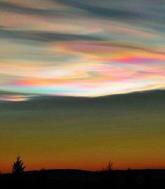 """Polar stratospheric clouds or """"mother of pearl"""" clouds around the Arctic Circle, seen in Skedsmokorset, Norway, Dec White Clouds, Sky And Clouds, Fire Rainbow, Wild Weather, Earth Surface, Natural Phenomena, Beautiful Sky, Great View, Amazing Nature"""