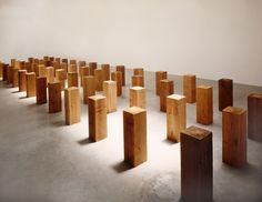 Carl Andre (b1935) is an American minimalist artist recognized for his ordered linear format and grid format sculptures. His sculptures range from large public artwork  to more intimate tile patterns arranged on the floor of an exhibition space.