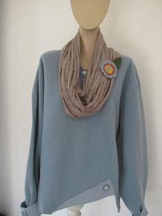 Women's Sweatshirt...Bay Blue...Pigment by StitchesbyJulia on Etsy, $42.00