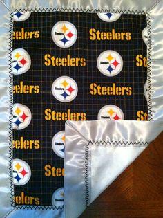 Pittsburgh Steelers Baby Gift Basket Blanket By