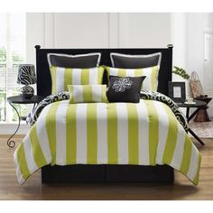 Kennedy Reversible 8-piece Comforter Set | Overstock.com Perfect for my future grey bedroom!!