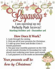 Are you stressed about your Christmas shopping already? Let me help you! Perfectly Posh items make great gifts and stocking stuffers! Browse my website and let me know your shopping list and I will email you the layaway details! You will receive a deluxe sample pack when you set yours up! http://misskari.po.sh
