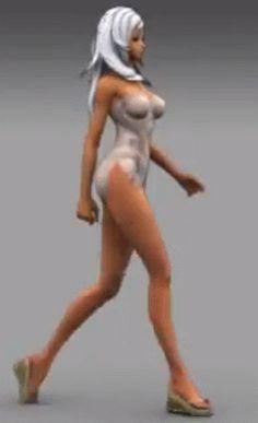 game animation woman walk