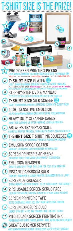 Shop Best DIY T-Shirt Screen Printing Kits & Supplies | DIY Print Shop