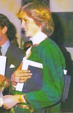 December 6, 1981:  Prince Charles & Princess Diana attended a concert at Tetbury Church in aid of The Benjamin Britten Foundation.