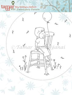 Embroidery Pattern Instant Download Needlecraft от TamarNahirYanai