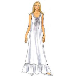 B5792 | Misses' Top, Gown and Pants | Family Sleepwear & Lingerie | Butterick Patterns