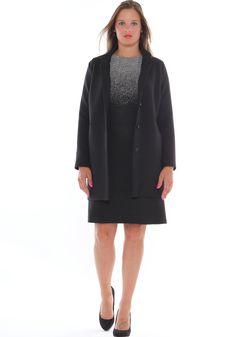 ... LuanaRomizi.com · Outfit da ufficio taglie morbide cappotto neoprene 041b8b82252