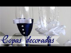 DECORACIÓN DE COPAS PARA BODA - PRIMER BRINDIS - YouTube