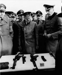 """""""The term assault rifle is generally attributed to Adolf Hitler, who for propaganda purposes used the German word Sturmgewehr (which translates to """"storm rifle"""" or """"assault rifle""""), as the new name for the MP43, subsequently known as the Sturmgewehr 44 or StG 44."""""""